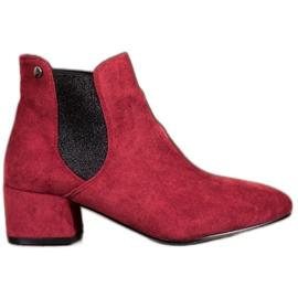 Ideal Shoes Jodhpur čizme sa sjajem crvena