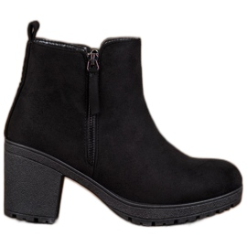 SHELOVET Udobni čizme na platformi crna