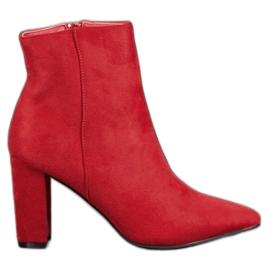 Super Me Seksi čizme s visokim potpeticama crvena