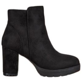 Super Mode Modne čizme za gležnjeve crna