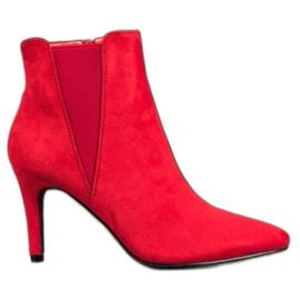 Marquiz Čizme na stilettu crvena