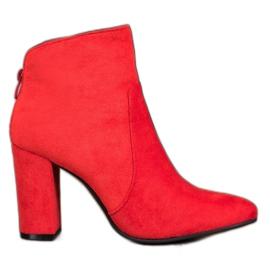 Ideal Shoes Klasične gležnjače crvena