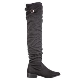 SHELOVET Moderne čizme preko koljena crna