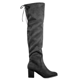Clowse Elegantne čizme od suknje crna