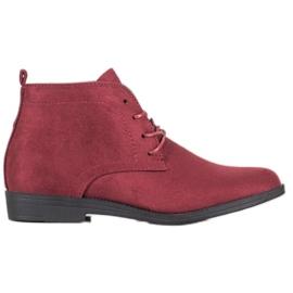 Goodin Udobne suede čizme crvena