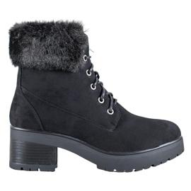 Goodin Crne čizme s krznom crna
