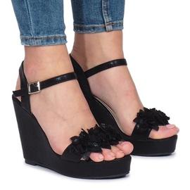 Crne Allane klinaste sandale crna