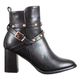 SDS Čizme za gležnjeve s rhinestones crna