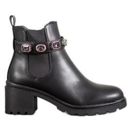 Forever Folie Jodhpur čizme s ukrasnim remenom crna