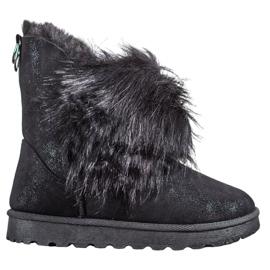 Bella Paris Čizme za snijeg s krznom crna