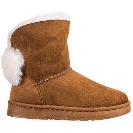 Bella Paris Čizme za snijeg s Pompomsima smeđ