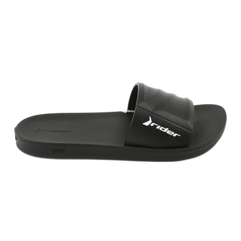 Papuče s crnim bazenom Rider 11578 crna