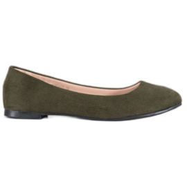 Best Shoes Suede balerinke zelena