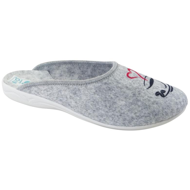Papuče od filca Wake Up Adanex 25642 sive boje