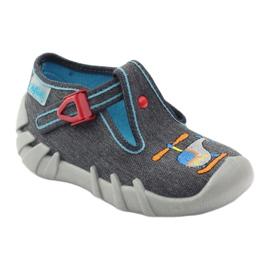 Befado dječje papuče 110p307 crvena siva naranča plava 1