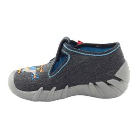 Befado dječje papuče 110p307 crvena siva naranča plava 2