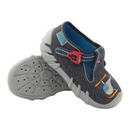 Befado dječje papuče 110p307 crvena siva naranča plava 3
