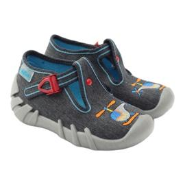 Befado dječje papuče 110p307 crvena siva naranča plava 4