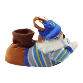 American Club Tople papuče životinje američke vjeverice plava smeđa 1