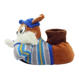 American Club Tople papuče životinje američke vjeverice plava smeđa 3