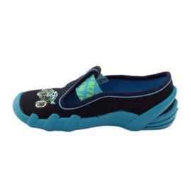 Papuče za dječje cipele Befado 290x161 mornarsko plava plava zelena 2