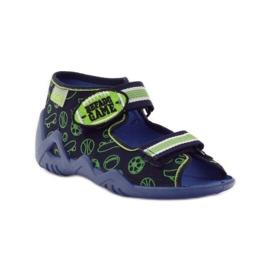 Befado dječje cipele sandale 250p070 papuče mornarsko plava zelena 1