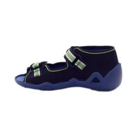 Befado dječje cipele sandale 250p070 papuče mornarsko plava zelena 2