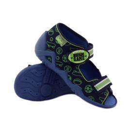 Befado dječje cipele sandale 250p070 papuče mornarsko plava zelena 3