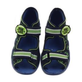 Befado dječje cipele sandale 250p070 papuče mornarsko plava zelena 4