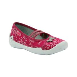 Befado dječje obuće balerinke papuče 116x236 ružičasta bijela 1