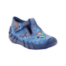 Papuče za dječje cipele Befado 110p315 zelena naranča plava 1