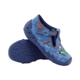 Papuče za dječje cipele Befado 110p315 zelena naranča plava 3