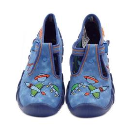 Papuče za dječje cipele Befado 110p315 zelena naranča plava 4