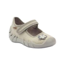 Befado dječje cipele balerinke papuče 109p163 smeđa siva žuta boja 1