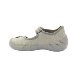 Befado dječje cipele balerinke papuče 109p163 smeđa siva žuta boja 2