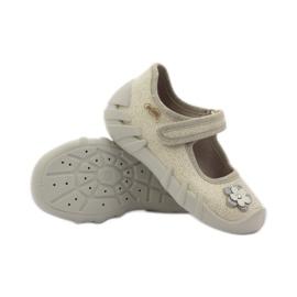 Befado dječje cipele balerinke papuče 109p163 smeđa siva žuta boja 3