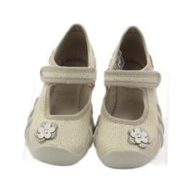 Befado dječje cipele balerinke papuče 109p163 smeđa siva žuta boja 4