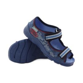 Plave sandale Befado 969x129 mornarsko plava crvena plava 3