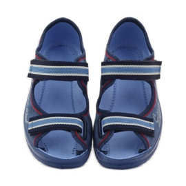 Plave sandale Befado 969x129 mornarsko plava crvena plava 4