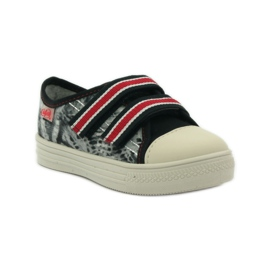 Papuče Tenisice Graffiti Velcro Befado 430x crvena siva crno bijela 1