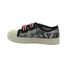 Papuče Tenisice Graffiti Velcro Befado 430x crvena siva crno bijela 2