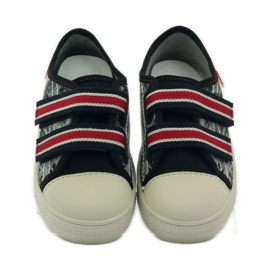 Papuče Tenisice Graffiti Velcro Befado 430x crvena siva crno bijela 4