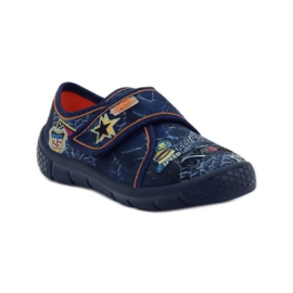 Papuče Super lagano dno automobila Befado mornarsko plava naranča 1