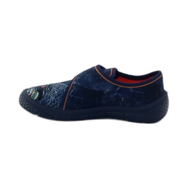 Papuče Super lagano dno automobila Befado mornarsko plava naranča 2