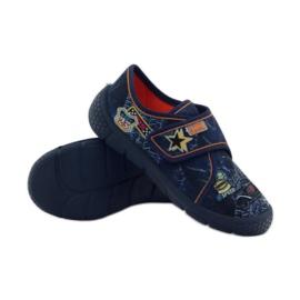 Papuče Super lagano dno automobila Befado mornarsko plava naranča 3