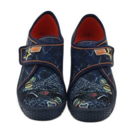 Papuče Super lagano dno automobila Befado mornarsko plava naranča 4