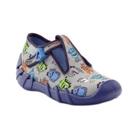 Papuče dječaci Befado 110p308 siva plava 1