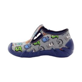 Papuče dječaci Befado 110p308 siva plava 2