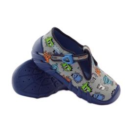 Papuče dječaci Befado 110p308 siva plava 3