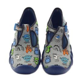 Papuče dječaci Befado 110p308 siva plava 4